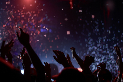 Image showing the audience crowd in a concert.
