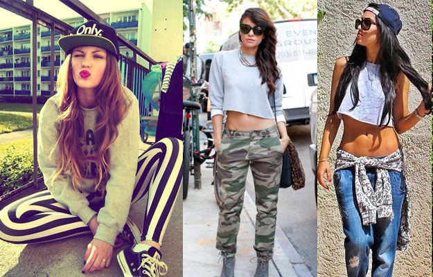 An Image of a cool girls outfits for a concert.