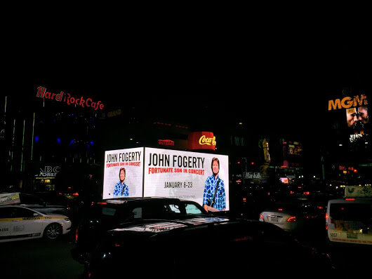 An Image Representing The Brightest Mobile Billboard Of A Musical Concert.